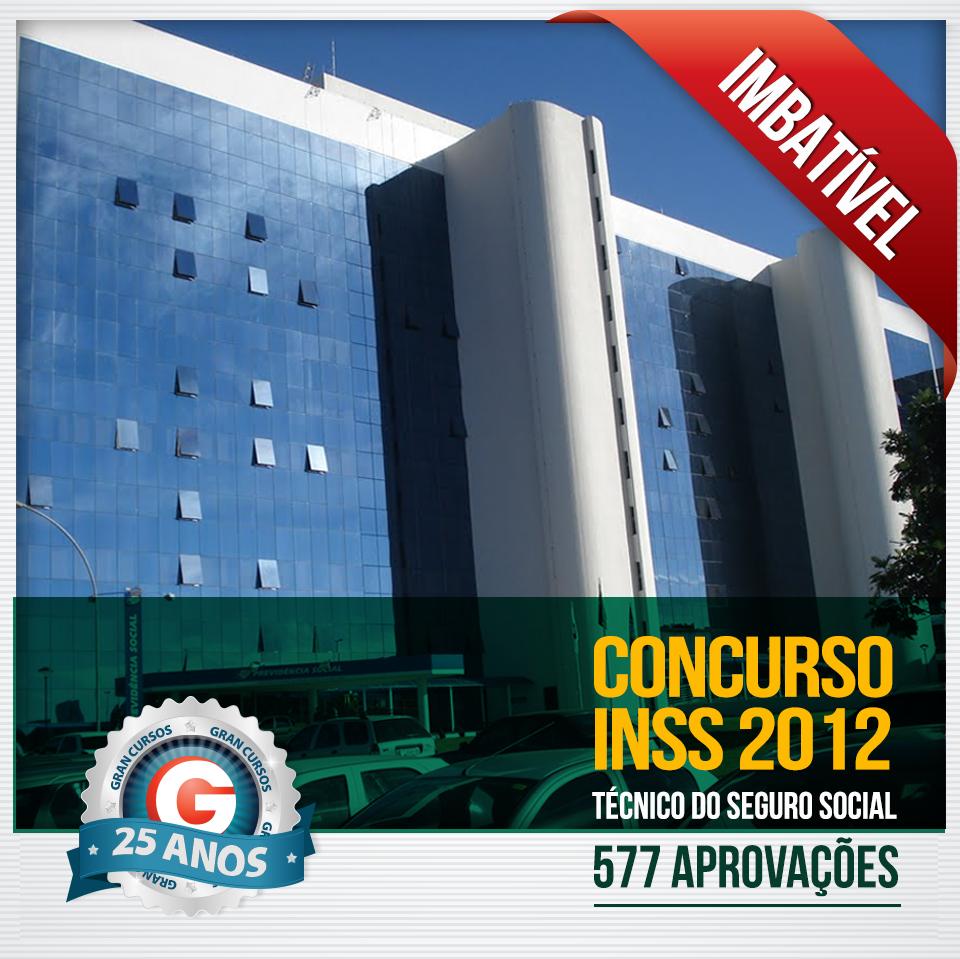 Resultado concurso INSS 2012