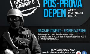 Prepare-se para o pós-prova do concurso do DEPEN – Agente! Correção ao vivo neste domingo, 28!