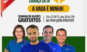 Projeto Secriança do DF: Semana de aulões gratuitos para o concurso da Secretaria da Criança do DF! Edital iminente! Participe!