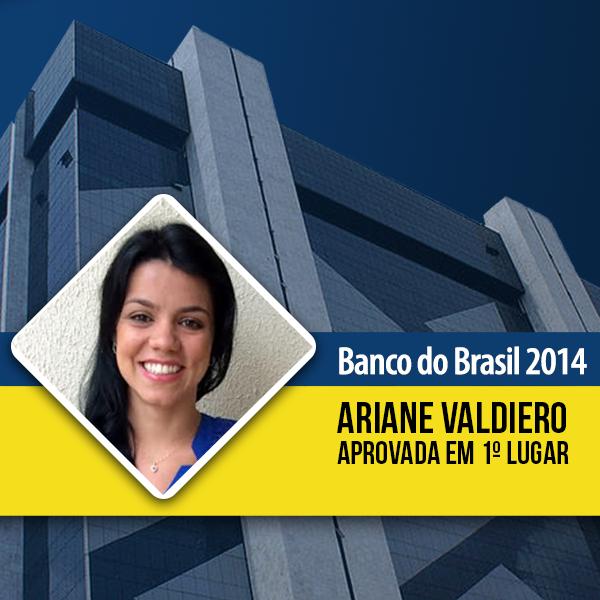 Aprovada no <strong>concurso Banco do Brasil</strong>!