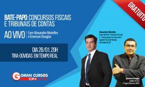 Não perca! Bate-papo ao vivo e gratuito sobre concursos fiscais e tribunais de contas com Alexandre Meirelles e Emerson Douglas!
