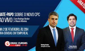 Bate papo ao vivo e gratuito sobre o novo CPC com Mauro Moreira e Rodrigo Becker! Não perca!