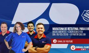 Maratona Gratuita de Reta Final para o IBGE é neste sábado (05/03). Não perca!