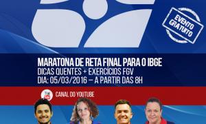 Concurso IBGE: Maratona grátis de revisão. Não perca!