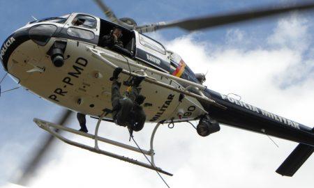 Helicóptero da Polícia Militar, que promove o concurso PMDF.