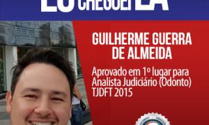 Força e superação são as palavras que definem a caminhada de Guilherme Guerra até a aprovação no TJDFT