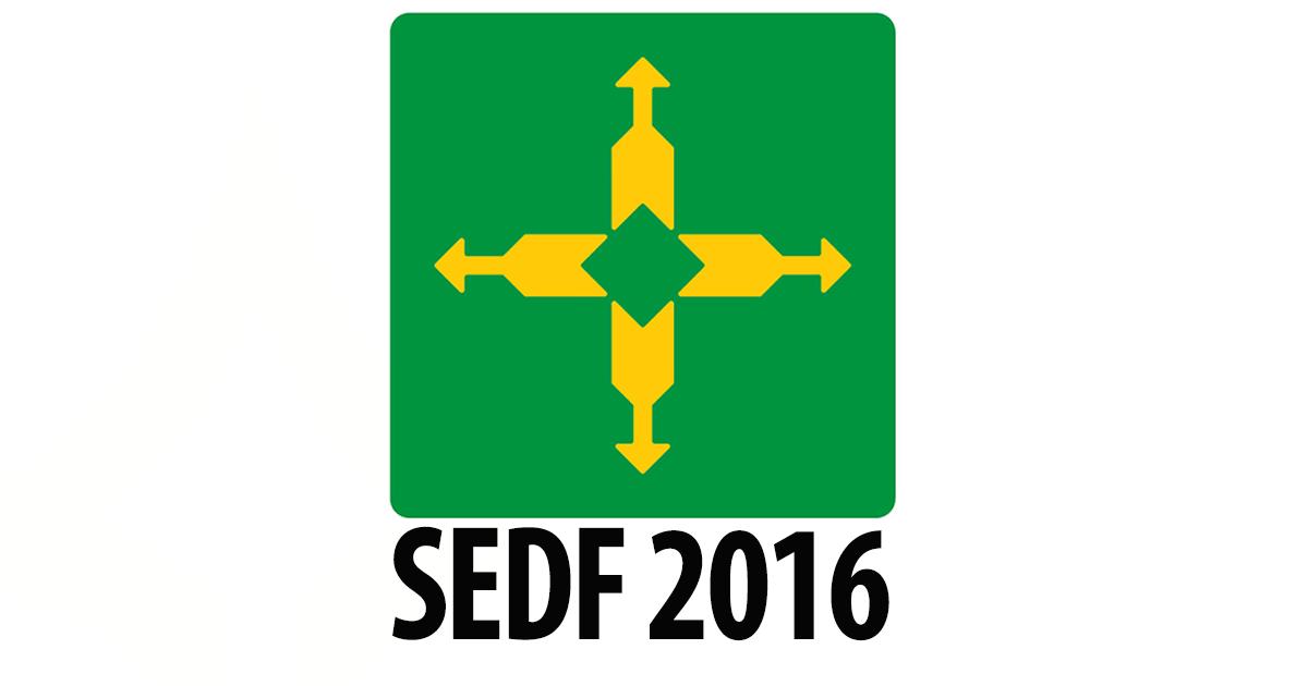 Edital do concurso SEDF 2016