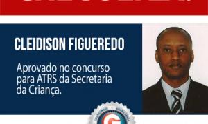 Cleidison Figueredo superou todas as dificuldades e foi aprovado para ATRS no concurso da Secriança-DF!