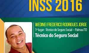 """Wedinei Rodrigues, aprovado em 1º lugar no INSS 2016: """"Resolvi estudar e descobri que eu poderia mudar a minha vida"""""""
