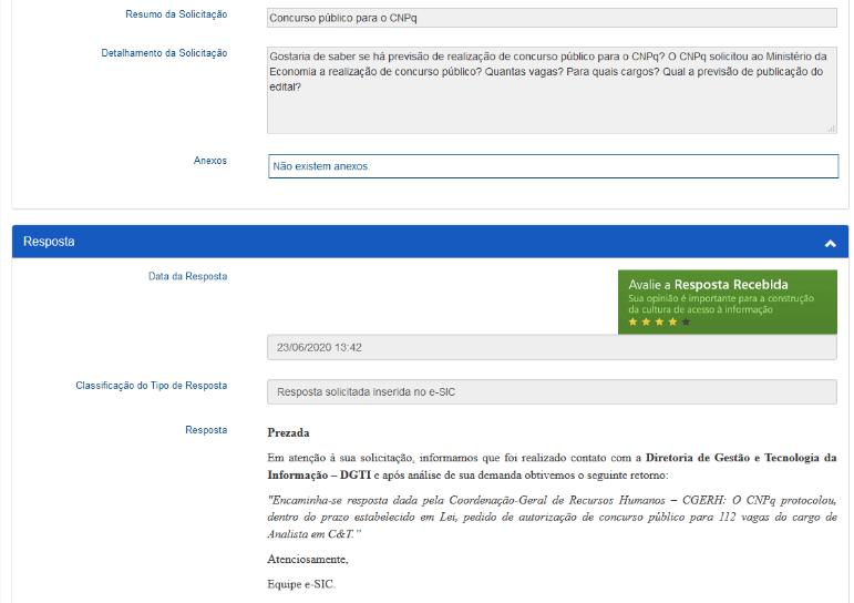 Concurso CNPq: Certame solicitado ao Ministério da Economia!