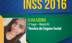 Elisa Azedias estudou 9 horas por dia e garantiu o 3º lugar em Niterói no concurso do INSS 2016