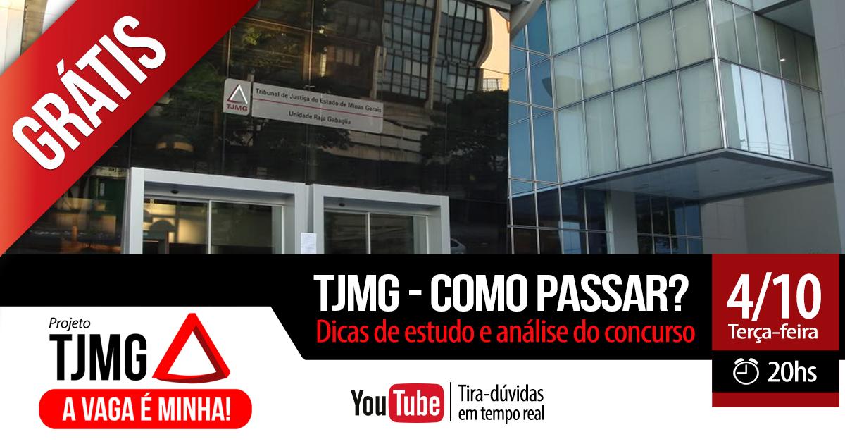 "Gran Cursos Online orienta candidatos a ""Como Passar"" no concurso do TJMG. Evento ao vivo e gratuito!"