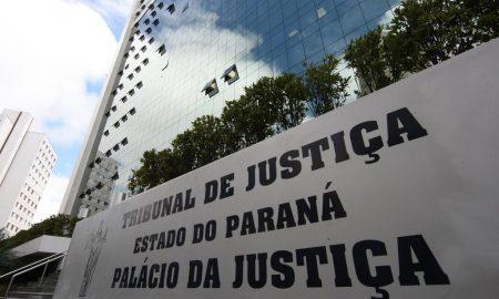 Fachada do Tribunal de Justiça do Paraná, que promove o Edital TJPR.