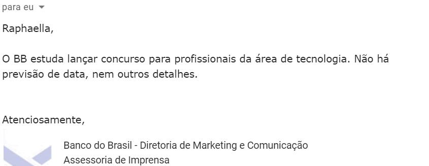 Edital do Banco do Brasil: resposta Assessoria!