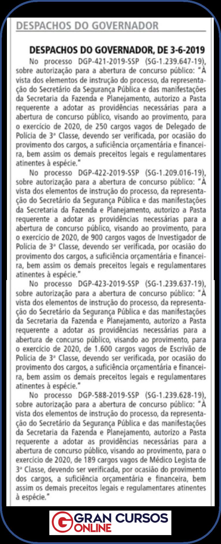 Edital Polícia Civil SP