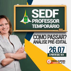 Edital SEDF Professor Temporário