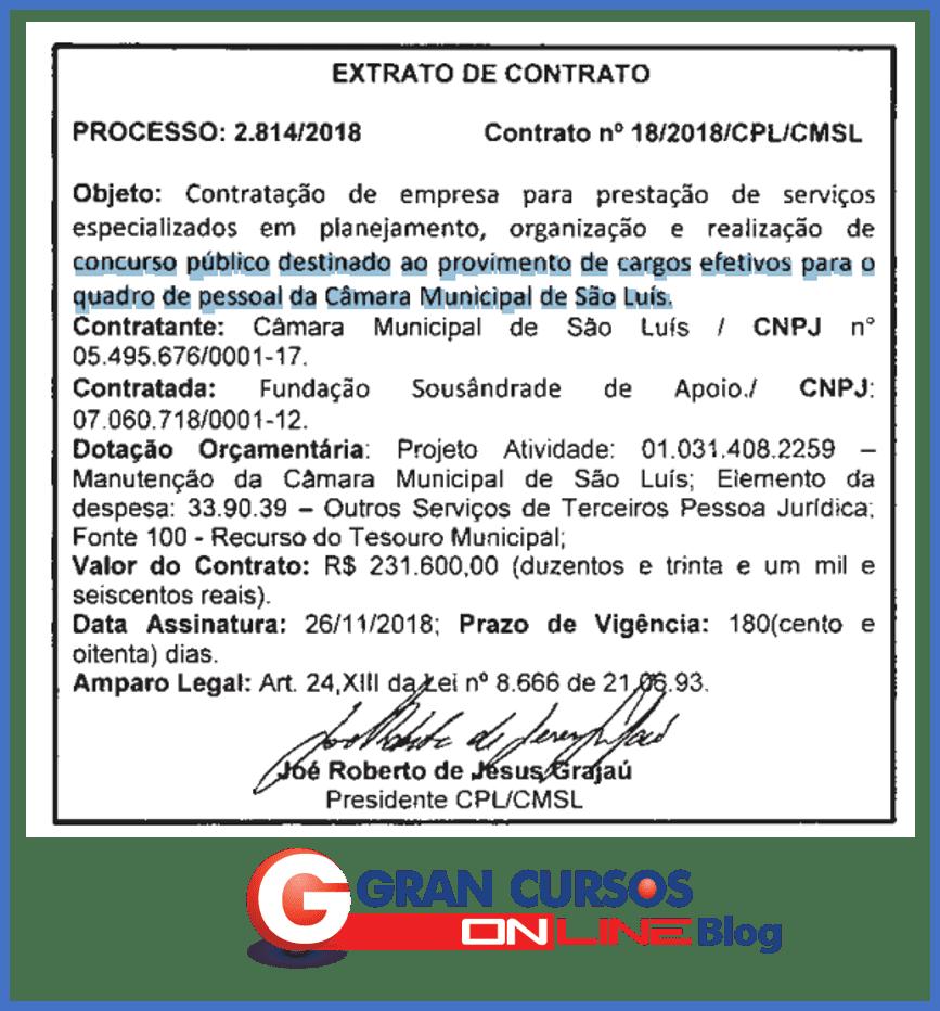 Concurso Câmara de São Luís MA
