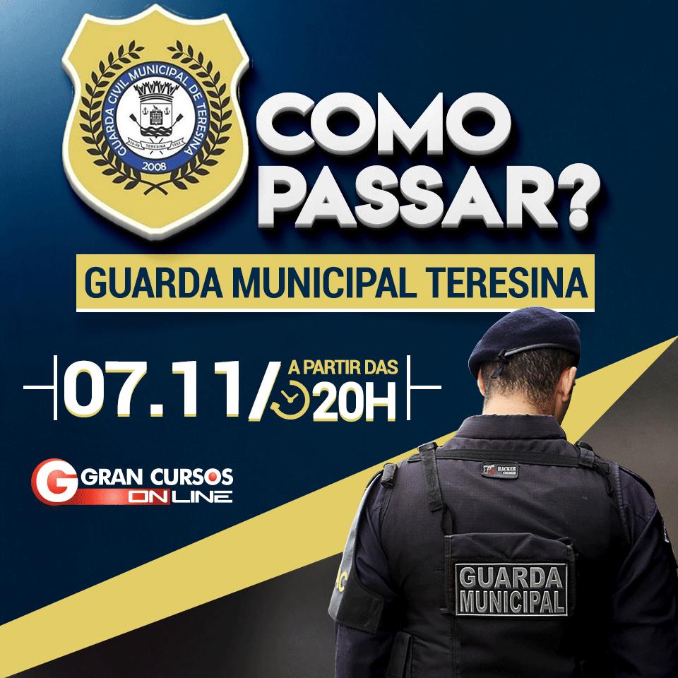 ec5a48be42 A Prefeitura Municipal de Teresina no Piauí (Concurso Guarda Municipal  Teresina) finalmente publicou o edital do concurso que ofertará 475 vagas  para o ...