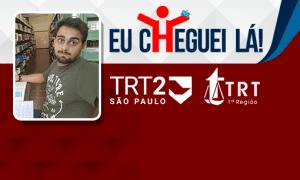 Com seis meses de estudo, Victor Quintas garantiu aprovações no TRT SP e no TRT RJ!