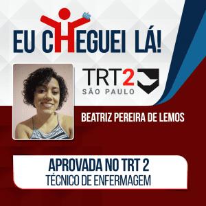Beatriz conseguiu passar no concurso TRT 2 com organização da rotina