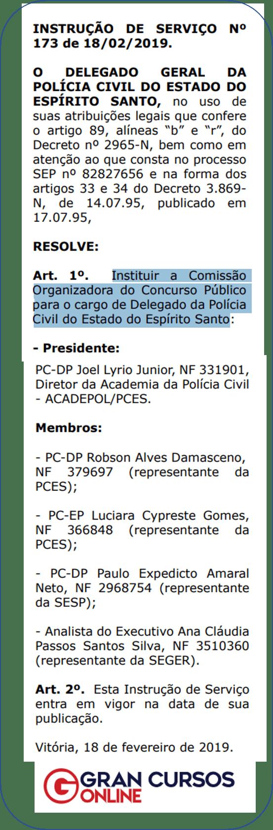 Concurso Delegado PC ES