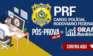 Pós-prova PRF: confira os recursos! Até quarta-feira (6)!