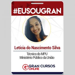 Letícia do Nascimento foi aprovada no concurso do Ministério Público da União