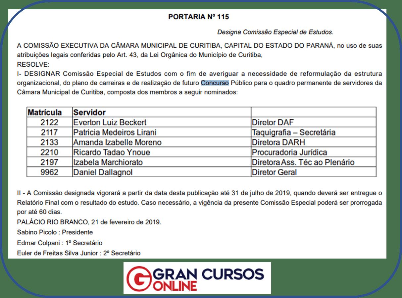 Concurso Câmara Municipal de Curitiba