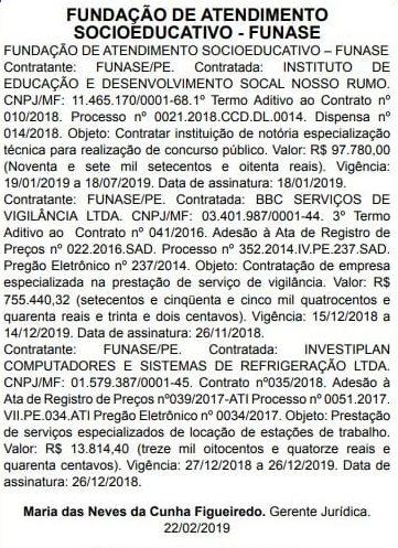 Concurso Funase: banca contratada.