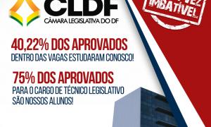 Nosso resultado CLDF: 40,22% dos aprovados dentro das vagas são nossos alunos!