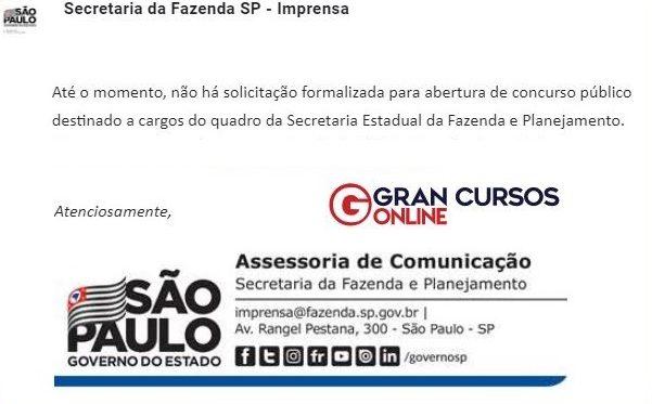 Concurso SEFAZ SP: órgão nega novo pedido.