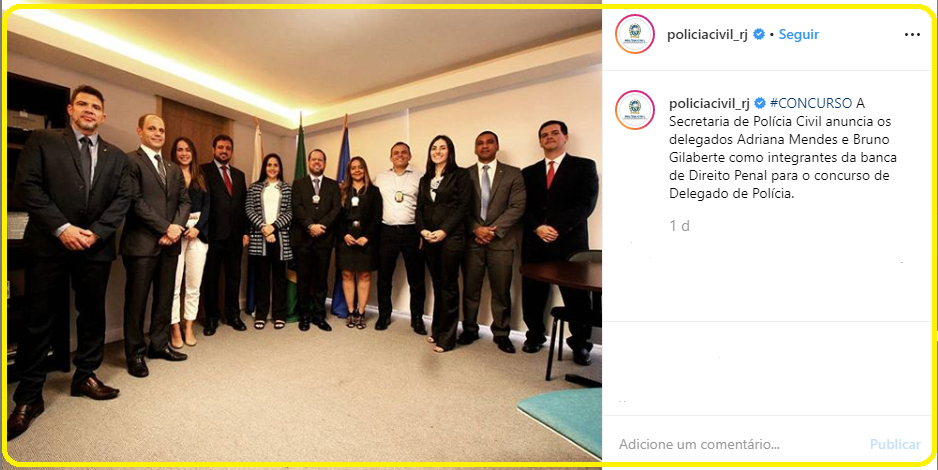 Edital Polícia Civil RJ: Banca examinadora para Delegado