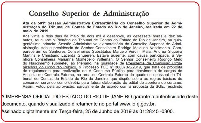 Edital TCE RJ