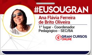 Ana Flávia Oliveira conquistou a aprovação no concurso SEC BA