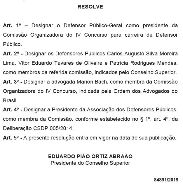 DPE PR: comissão formada!