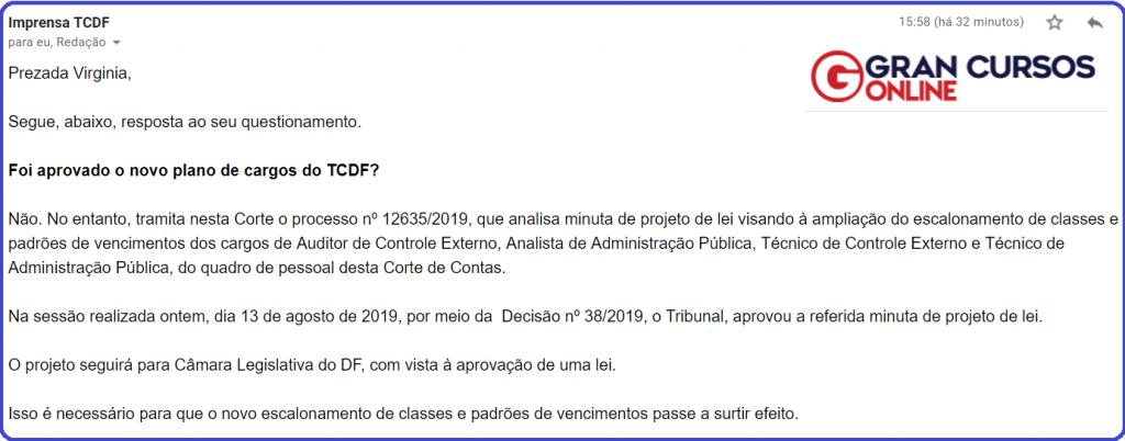 Concurso TC DF: novidades!