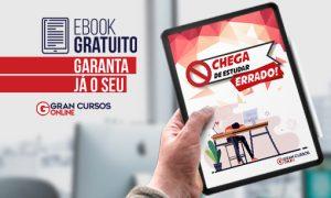 E-book gratuito: chega de estudar ERRADO! Baixe gratuitamente!