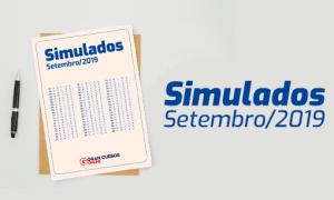 Confira os simulados do mês de Setembro!