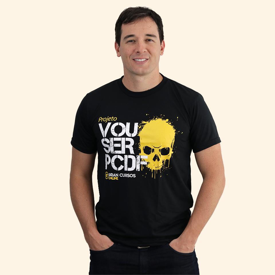 Camiseta Masculina – Vou Ser PCDF