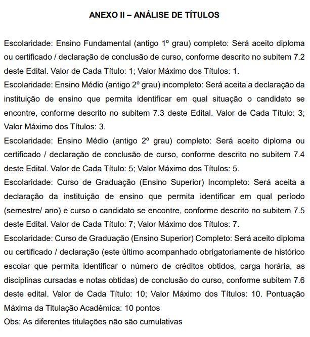 Concurso IBGE: pontuação para Avaliação de Títulos