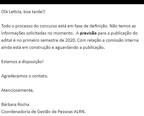 Concurso AL RN: concurso 2020!