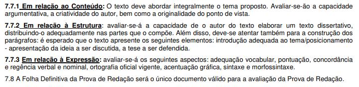 Concurso DPE SC: redação!