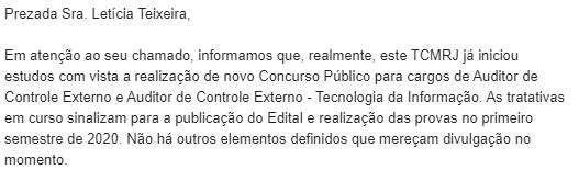 Concurso TCM RJ: concurso 2020!