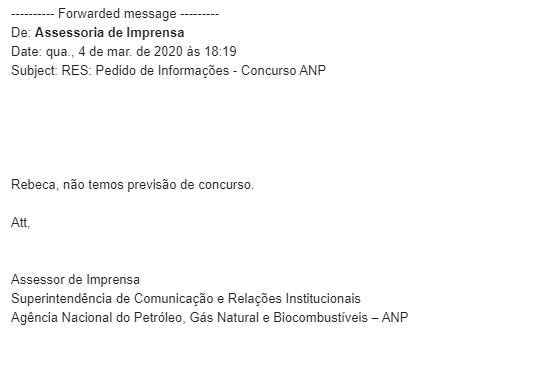 Concurso ANP: resposta da Assessoria!