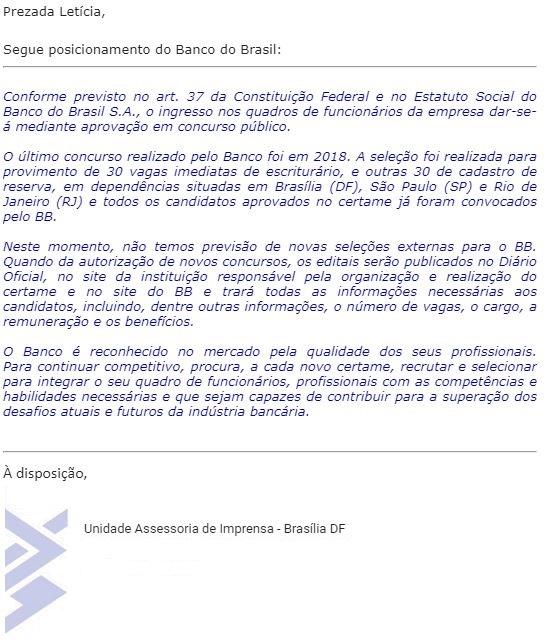 Concurso Banco do Brasil: edital em 2020!