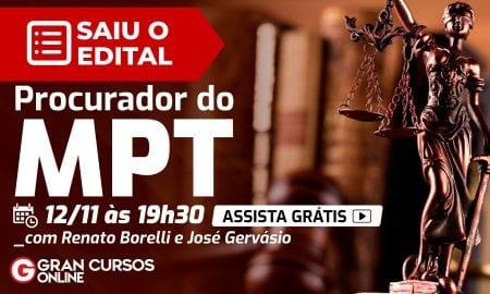 Edital MPT: saiu edita do concursol!