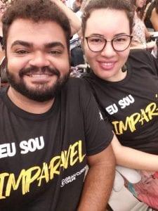 Andreia e seu esposo, Jardson, no Gran Dicas TJ-AM, em Manaus