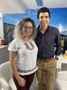 Com a Andreia em nossa sede, em Brasília, após sua aprovação no TJ-AM.