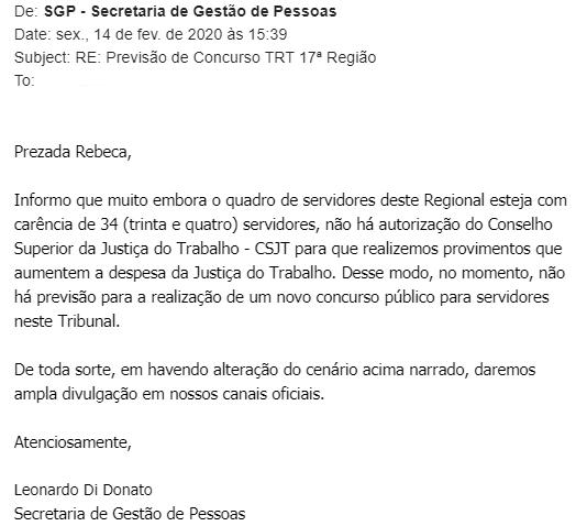 Concurso TRT ES: quantitativo de cargos vagos!