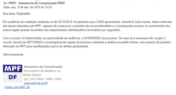 concurso INSS: resposta do MPF questionados sobre a suspensão.